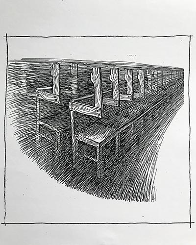 Виктор Сиваков. Графика. Стулья для голосования