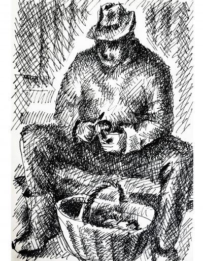 """""""Чистка грибов (портрет отца)"""""""